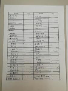 受付シート①